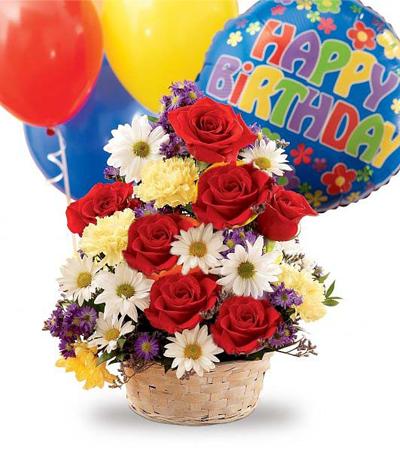 Flowers W Balloons