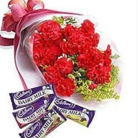 Bouquet carnation With Cadbury